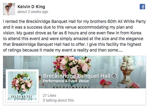 breckinridge banquet hall kelvin